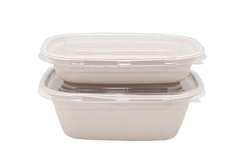 Bagasse Rectangular Containers -
