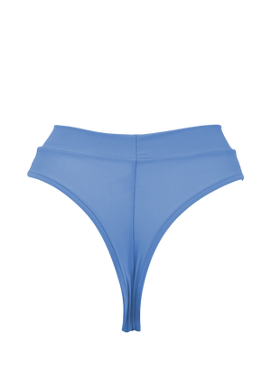 Edgy High-Waist Swimwear Bikini Bottom / BOND SWIM PACIFIC BLUE - EXES LINGERIE