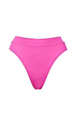 Edgy High-Waist Swimwear Bikini Bottom / BOND SWIM PINK PARADISE - EXES LINGERIE