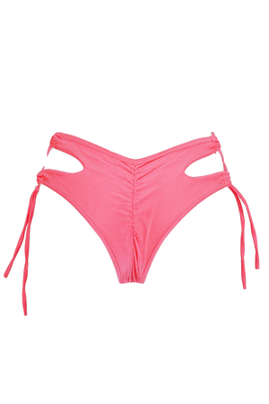URSULA Cheeky Bikini Bottom / LIGHT CORAL,BOTTOMS - EXES LINGERIE