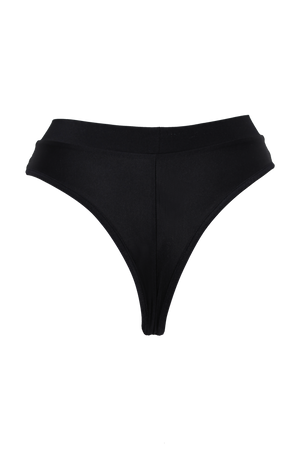 Sexy High-Cut Bottom BOND 1/2 Mesh  / BLACK - EXES LINGERIE