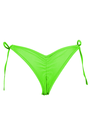 RINGO Scrunch back Bikini Bottom / LIME - EXES LINGERIE