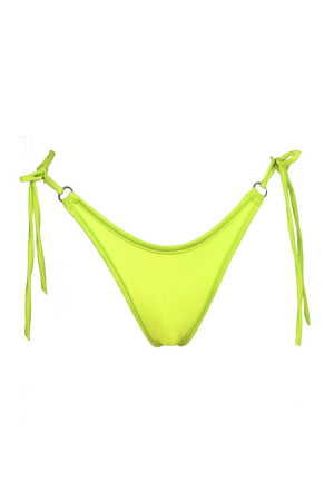 RINGO Scrunch back Bikini Bottom / NEON YELLOW - EXES LINGERIE