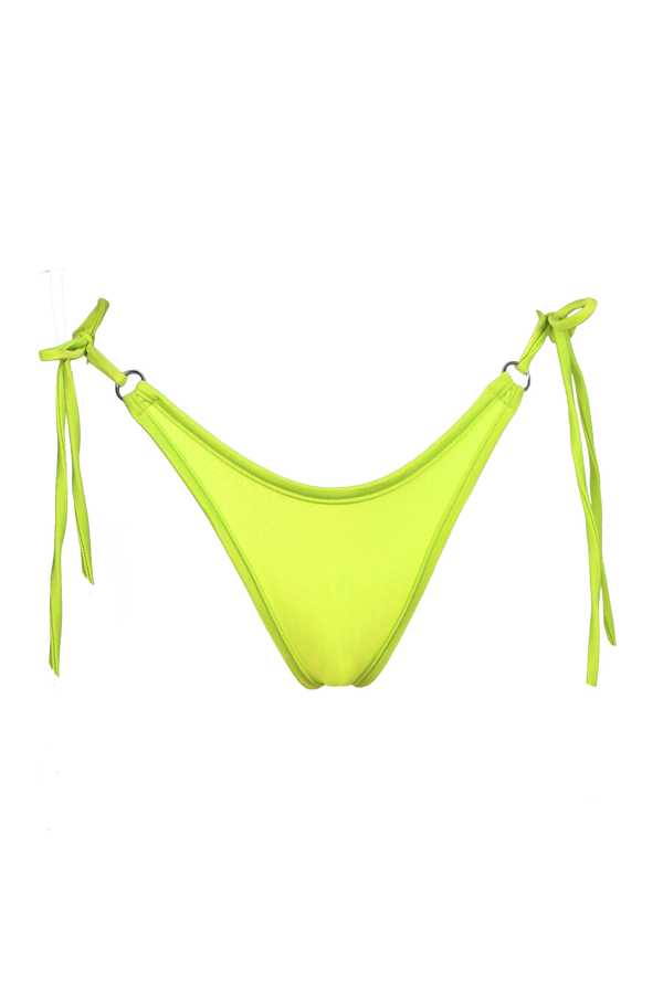 RINGO Scrunch back Bikini Bottom / NEON YELLOW,BOTTOMS - EXES LINGERIE