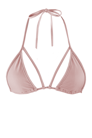 STRAPPY TRIANGLE SWIM Bikini Top  / NUDE - EXES LINGERIE