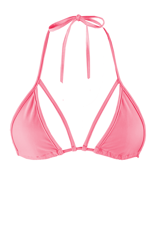 STRAPPY TRIANGLE SWIM Bikini Top  / LIGHT CORAL - EXES LINGERIE