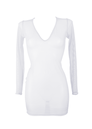 Dress Long Sleeve Cover-Up / WHITE