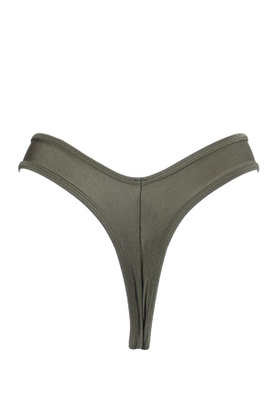 High-Cut Thong Bikini Bottom / KHAKI / LULY SWIM - EXES LINGERIE