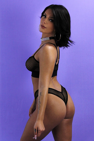 BRAZIL FISHNET BOTTOM,BOTTOMS - EXES LINGERIE