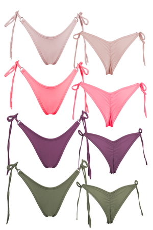 RINGO string Bikini Bottom / GRAPE,BOTTOMS - EXES LINGERIE