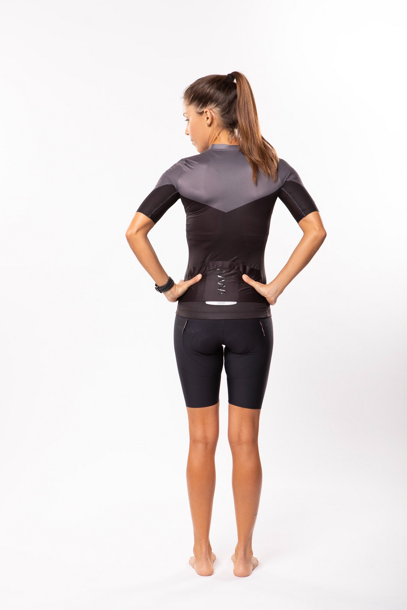 women's luceo premium cycling jersey - deux x noir *FINAL SALE