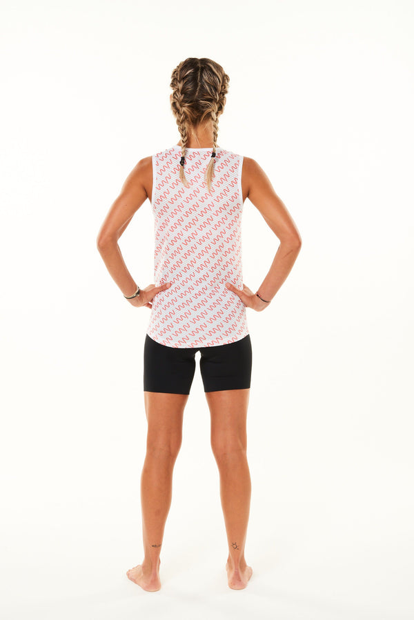 WYN signature women's sleeveless base layer - coral