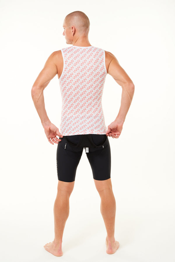 WYN signature men's sleeveless base layer - coral
