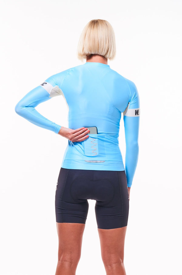 women's signature summer long sleeve cycling jersey - sky