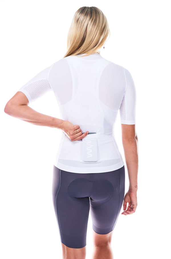 women's LUCEO hex racer cycling jersey - cloud