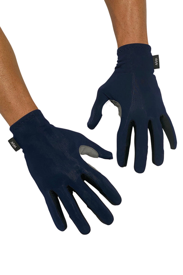 essentials light thermal gloves- deep navy