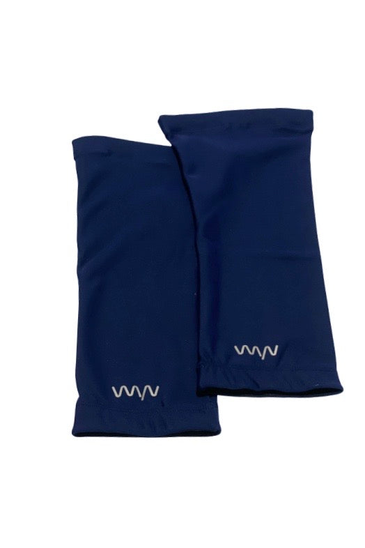 womens knee warmers - deep navy