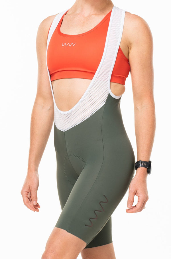 women's velocity cycling bib shorts - spruce