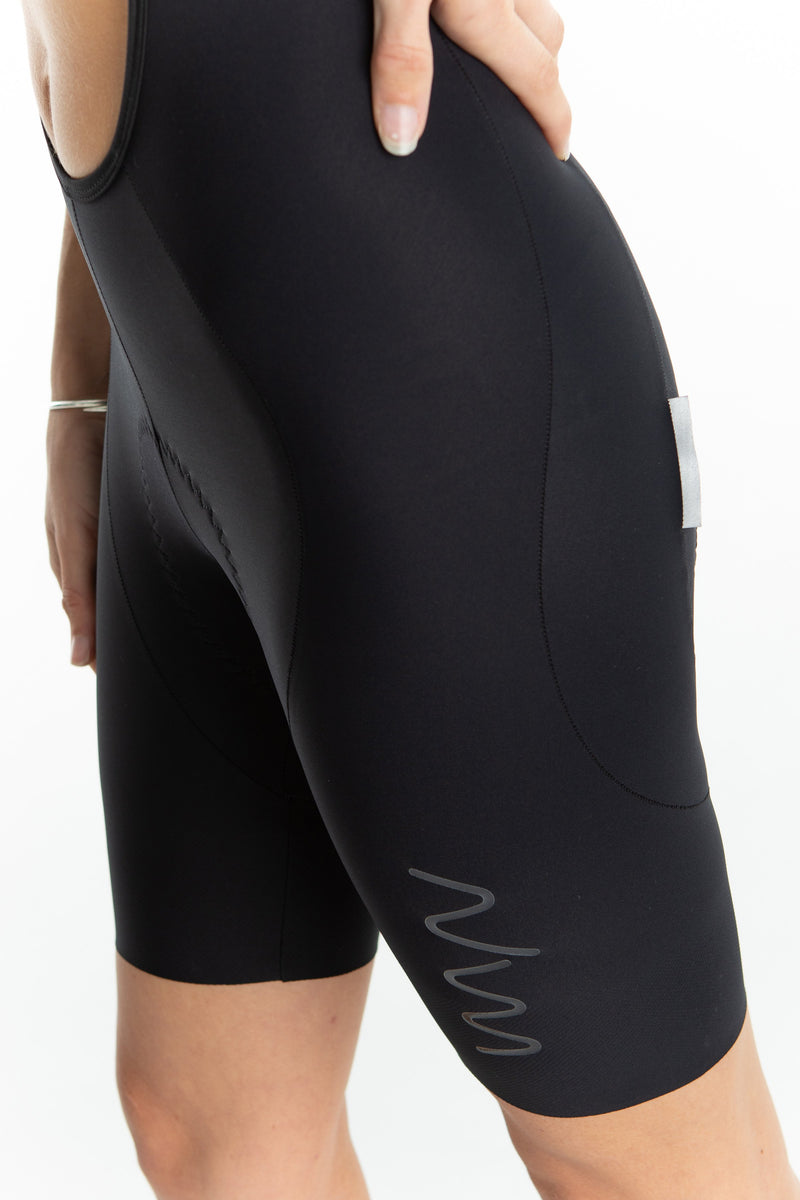 women's LUCEO bib shorts - black