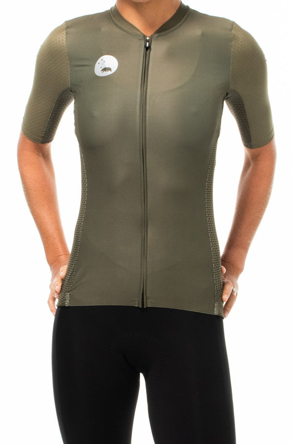 women's LUCEO hex racer cycling jersey - olive *FINAL SALE