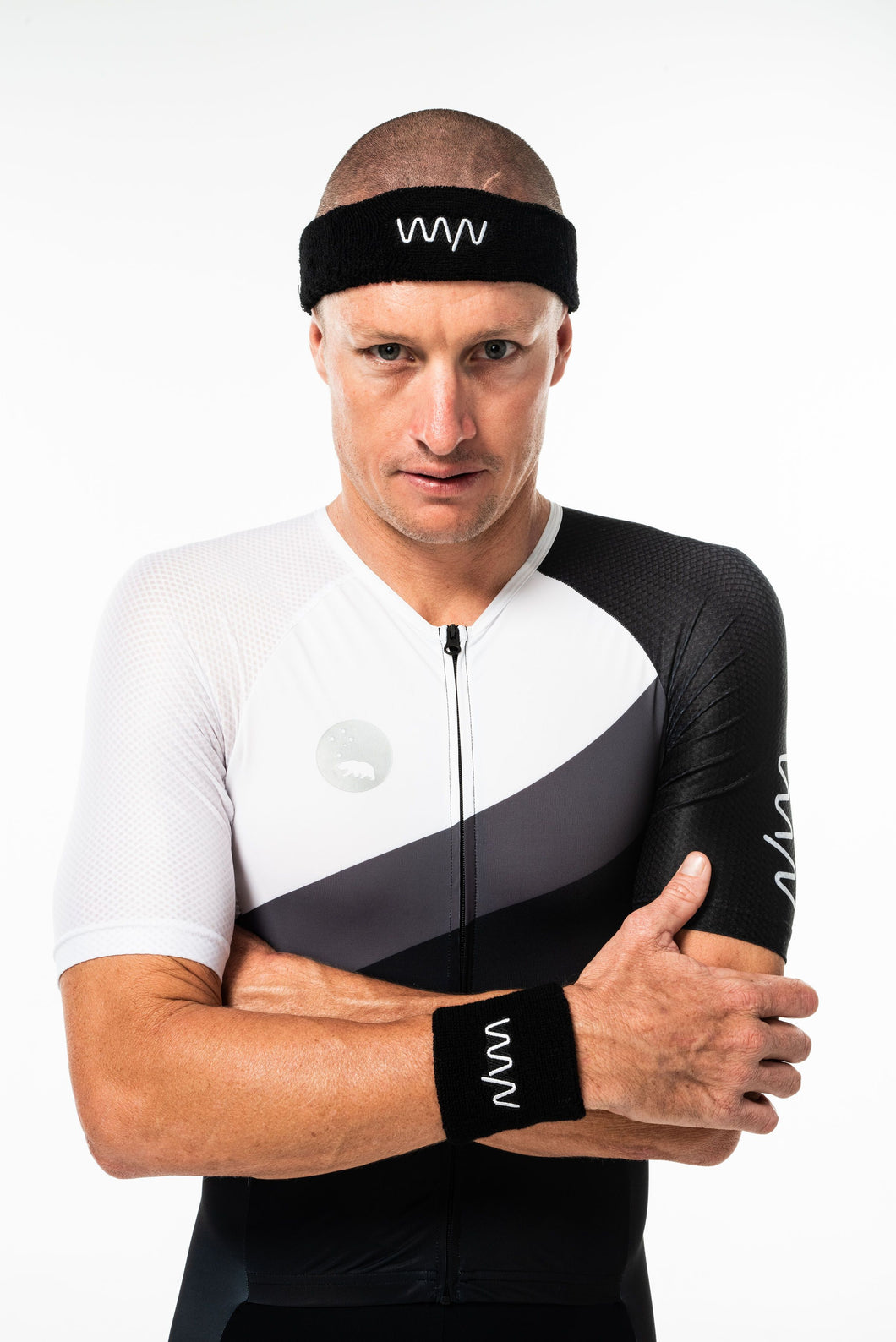 WYN signature sweatband set - black