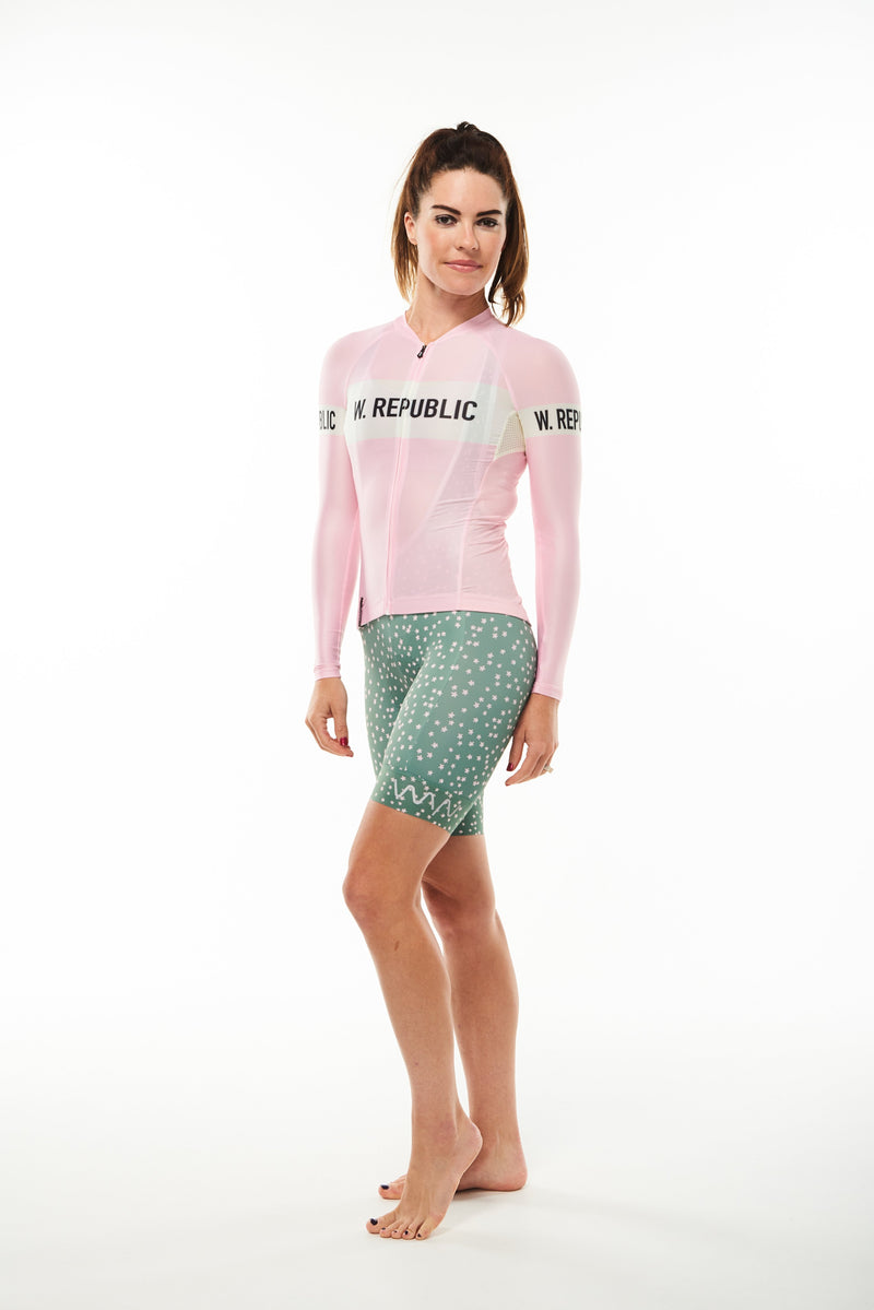 signature summer long sleeve cycling jersey - carly