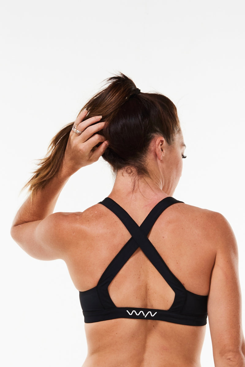 Do. It. Now. sports bra - black