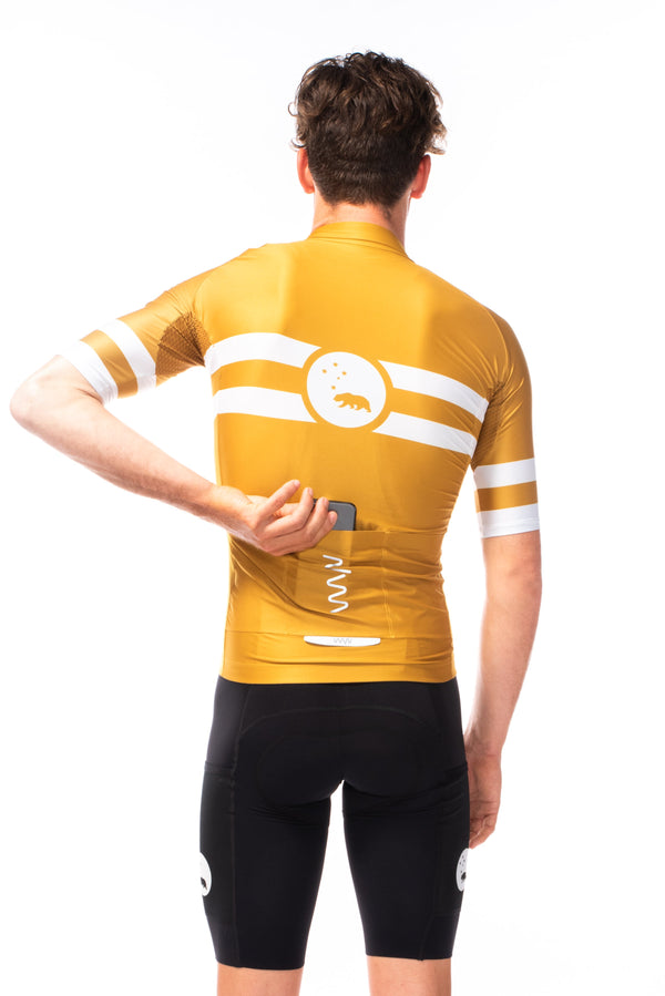 men's mojave premium cycling jersey - amber