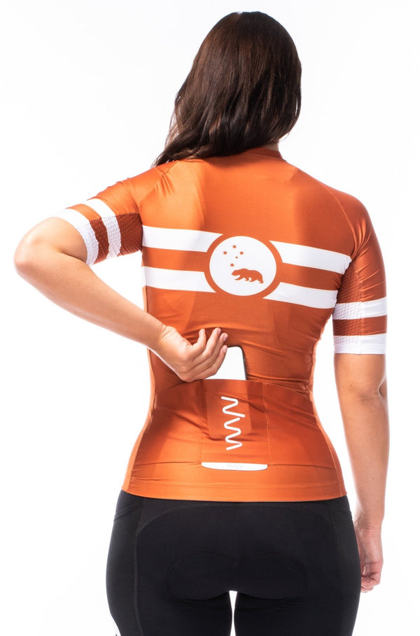 women's mojave premium cycling jersey - rust
