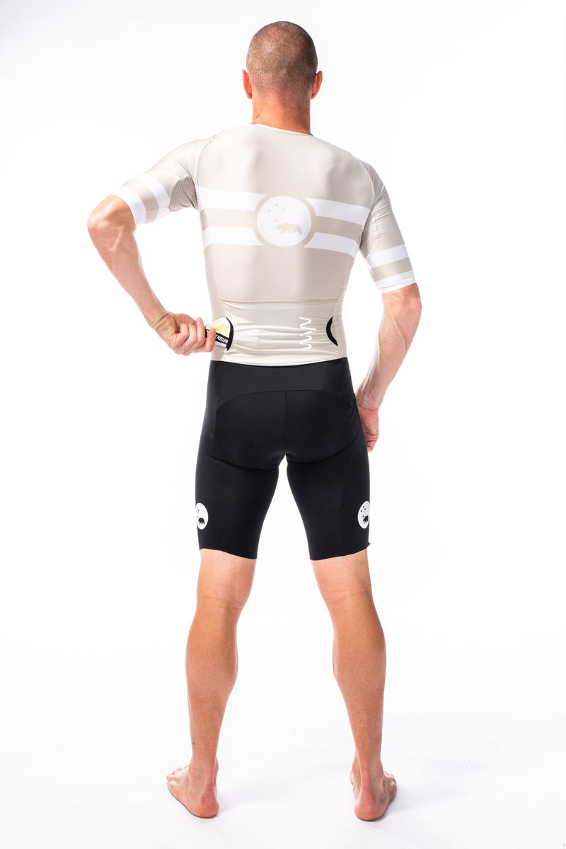 men's mojave velocity+ triathlon suit - sand