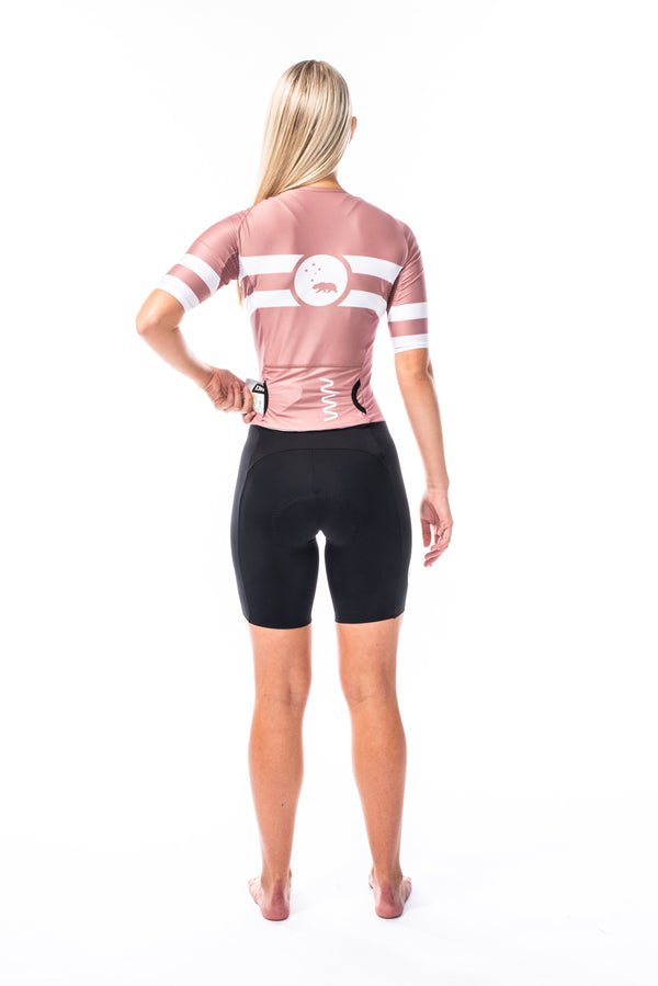 women's mojave velocity+ triathlon suit - terracotta pink