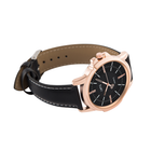 Demeanor  - Black Leather / Black Face Rose Gold Case