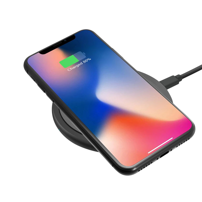 Argom Wireless Fast Charger-Certified for iPhone 11, 11 Pro, 11 Pro Max, XR, Xs Max, XS, X, 8, 8 Plus, 10W Fast-Charging Galaxy S20 S10 S9 S8, Note 10 Note 9 and More (No AC