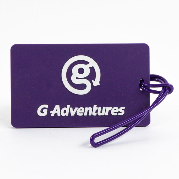 Purple Luggage Tag