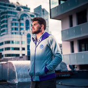 Hoody - Grey/Purple - Mens