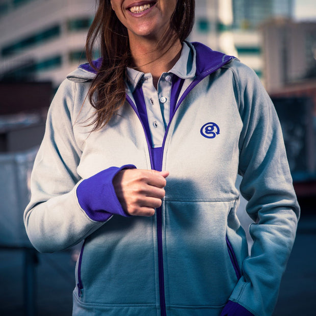 Hoody - Grey/Purple - Womens