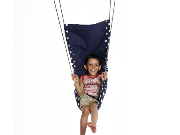 Cuddly Coo Children's Hammock Swing - Blue star
