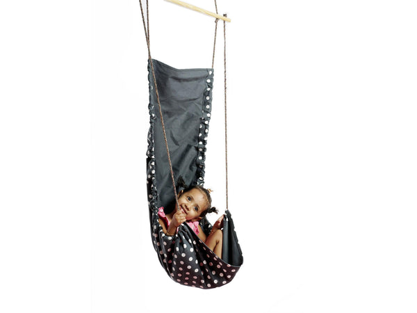 Cuddly Coo Children's Hammock Swing - Grey Polka