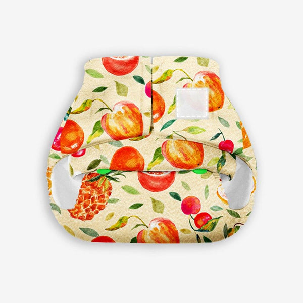 Superbottoms Newborn UNO - Washable & resuable cloth diaper + 1 Organic Cotton Dry Feel Pad (2.5kg- 6kg Babies)- Fruit Burst