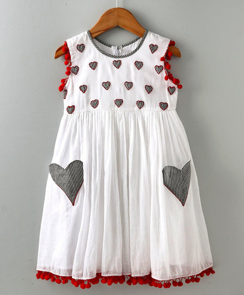 White Mul Dress with Patch Work - indieprojectstore