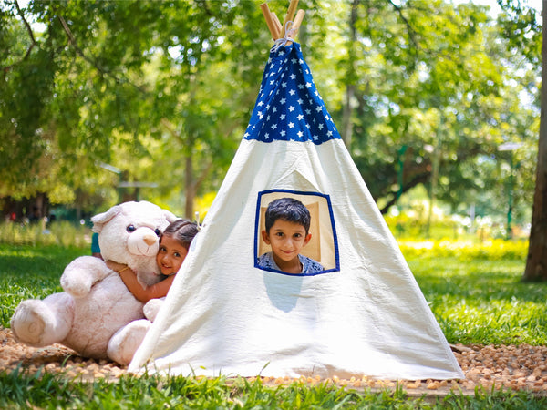 Cuddly Coo Tee Pee Tent - Blue Star