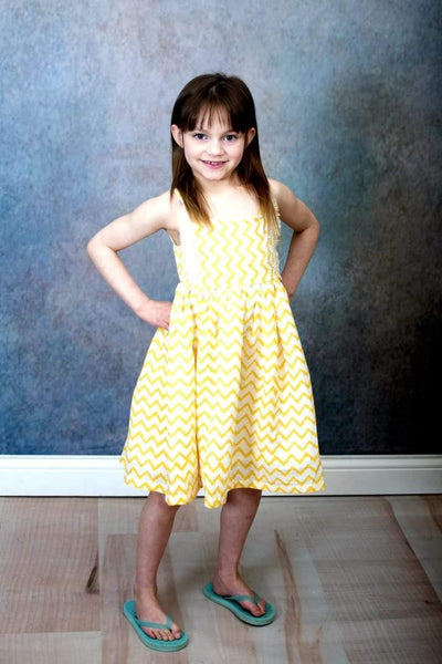 Shevron Yellow Dress
