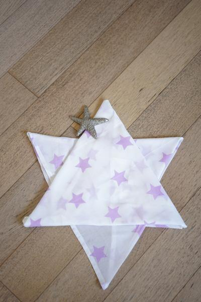 Wish upon a star' Organic Cotton Swaddle in Lilac