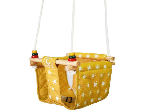 CuddlyCoo Toddler Swing - Mustard Sun