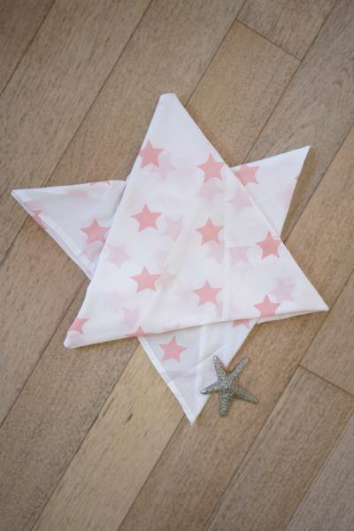 Wish upon a star' Organic Cotton Swaddle for babies in Peach Pink