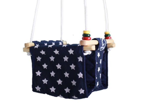 CuddlyCoo Toddler Swing - Blue Stars