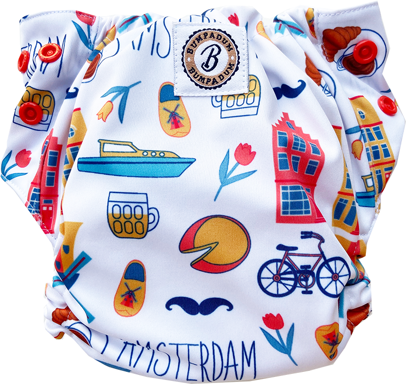 Bumpadum Duet Stay Dry Diaper -Amsterdam - Indie Project Store