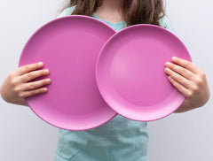 Bobo&boo Non-Toxic, BPA-Free, Eco-friendly, set of 4 bamboo adult-sized plates for the big kids and the big kids at heart - Sunset - indieprojectstore