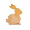 3 Piece Chunky Wooden Puzzle - Bunny - Indie Project Store