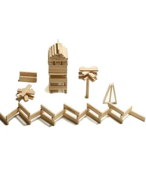 Toyroom Wooden  Planks / Building Bricks (100 Pieces)